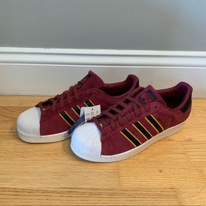Never Worn Adidas Superstar suede size 10